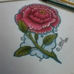 Lark Tattoo Albany NY Ben Lambert Flower Color Drawing