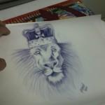 Ben Lambert Lark Tattoo Albany NY Lion King Crown Sketch