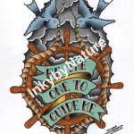 Ben Lambert Lark Tattoo Albany NY Swallow Ship Wheel