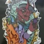 Devil Tattoo Machine Earth Pipe
