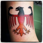 german eagle color black red gold