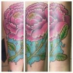 flower color tattoo peony