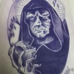 Ben Lambert Albany NY Lark Tattoo Emperor Palpatine Drawing