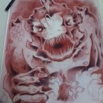 Original Kraken drawing Ben Lambert Albany NY New York Lark Tattoo Drawing