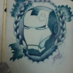 Ben Lambert Lark Tattoo Albany NY Tony Stark Iron Man Drawing