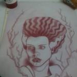 Ben Lambert Albany New York Bride Of Frankenstein Drawing