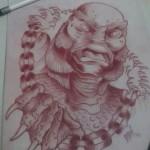 Lark Tattoo Albany NY Ben Lambert Creature from the Black Lagoon