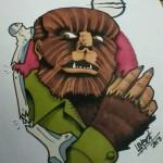 Ben Lambert Albany NY Lark Tattoo Wolfman Drawing
