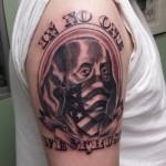 Lark Tattoo Albany Ben Lambert Famous Ben Franklin bandana