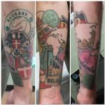 Lark Tattoo Ben Lambert travel sticker color