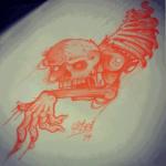 Lark Tattoo Albany Ben Lambert Zombie Sketch