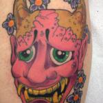 hannya mask color tattoo