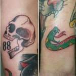 Sailor Jerry Ben Lambert Albany NY Lark Tattoo Flash Color