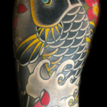 koi sleeve matt c ellis lark tattoo