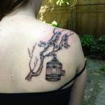 birdcage branch back lark tattoo albany ny