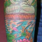 Tom Martin Lark Tattoo Albany NY Tbone Color Buddha