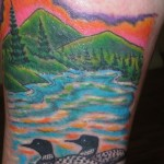 Tom MArtin Lark Tattoo Albany NY Tbone Scenery Mountains Ducks