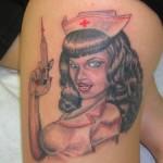 Lark Tattoo Albany NY Tom Martin Tbone Pinup Sexy Nurse