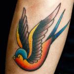 HeatherMartinOwens_bird_color_sparrow_sailor_traditional