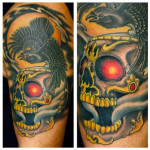 westbury long island new york tattoo Heather Martin Owens kapala skull raven crow