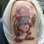Lark Tattoo Albany NY Kyle Lavorgna Space Monkey Astronaut
