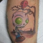 Lark Tattoo Albany NY Kyle Lavorgna Balloon zombie