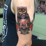 owl color lark tattoo albany ny