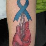 Lark Tattoo Albany NY Kyle Lavorgna Awareness Ribbon Boxing Gloves