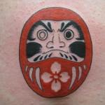 Lark Tattoo Albany NY Color Kyle Lavorgna Dharma Daruma Doll
