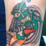 Lark Tattoo Albany NY Kyle Lavorgna Tiki Surfer