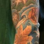 richie van lark tattoo albany ny water leaves