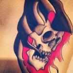 Kirby watercolor lark tattoo
