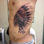 native american headdress lark tattoo albany ny