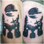 Lark Tattoo Albany NY Kyle Lavorgna Star Wars Death Star Black