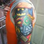 Lark Tattoo Albany NY Kyle Lavorgna Superhero Sleeve