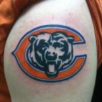 Lark Tattoo Albany NY Kyle Lavorgna Color Chicago Bears