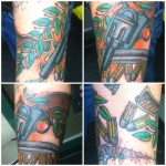 Lark Tattoo Albany NY Kyle Lavorgna Color Traditional American Revolver Bullets