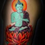 Lark Tattoo Albany NY Tom Martin Tbone Buddha Lotus