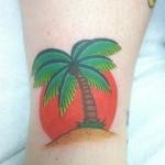 Lark Tattoo Albany NY Kyle Lavorgna Palm Tree Sun