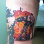 Lark Tattoo Albany NY Kyle Lavorgna ATAT Star Wars Color