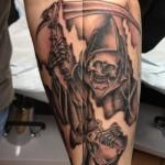 grim reaper death lark tattoo albany ny