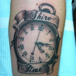 Lark Tattoo Albany Kyle Lavorgna Black and Gray Pocket Watch Shire Time LOTR Lord Of The Rings