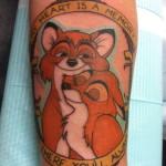 Lark Tattoo Albany NY Kyle Lavorgna Disney Fox and the Hound