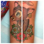 Lark Tattoo Albany NY Kyle Lavorgna Bambi Deer Flowers