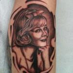portrait black and grey tattoo realistic