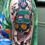 Lark Tattoo Albany NY Kyle Lavorgnia Hunter S Thompson Gonzo