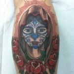 Lark Tattoo Albany NY Kyle Lavorgna Mary Sugar Skull Roses