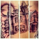 kirby black and grey tattoo