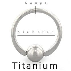 captive bead Titanium