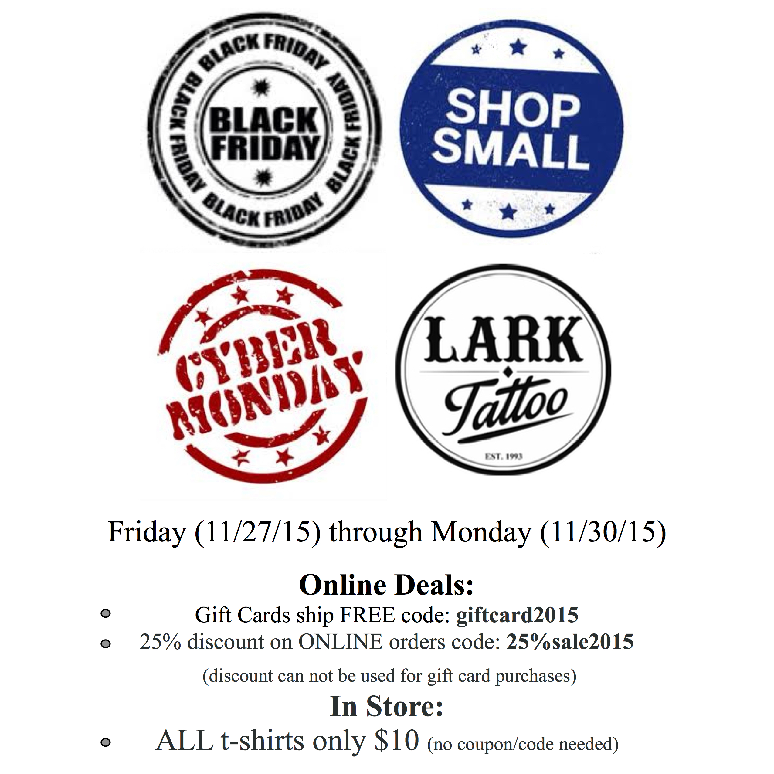 Black friday shop small saturday and cyber monday deals at lark shopping 2015 xflitez Image collections